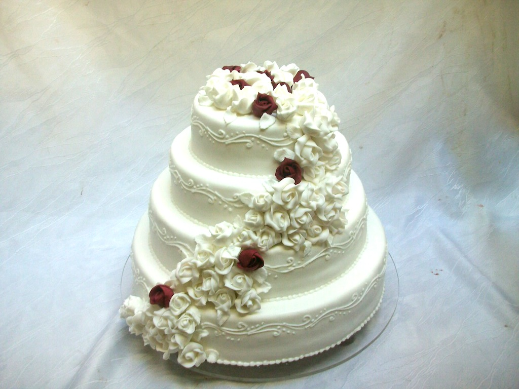 Hochzeitstorte rose weimar