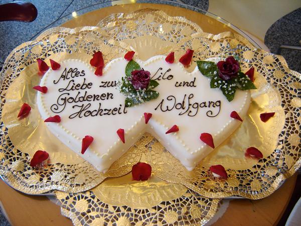 Silberne und Goldene Hochzeit - Bäckerei Rose Weimar